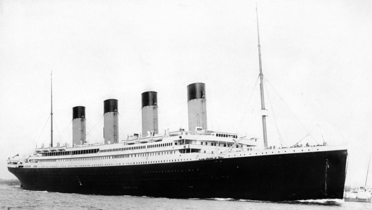 RMS Titanic leaves Southampton on her fateful maiden voyage